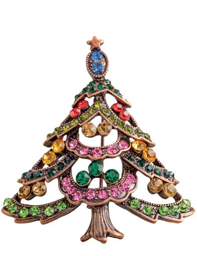 The Colours Of Christmas Brooch