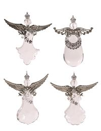 Icy Crystal Angel Ornaments (Set Of 4)