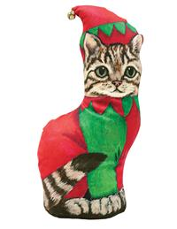 Santa's Helper (Tabby Cat)