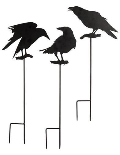 Raven Trio Garden Stakes (Set Of 3)