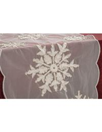 Shimmering Snowflakes Table Runner