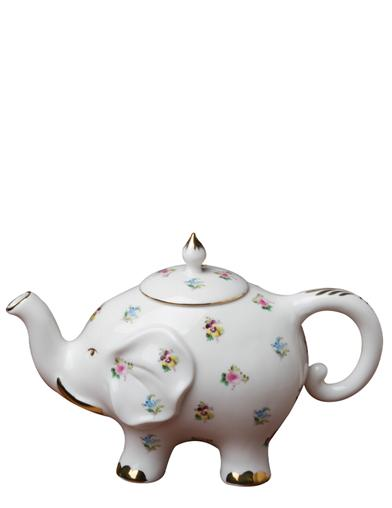 Elephant In The Flowers Teapot