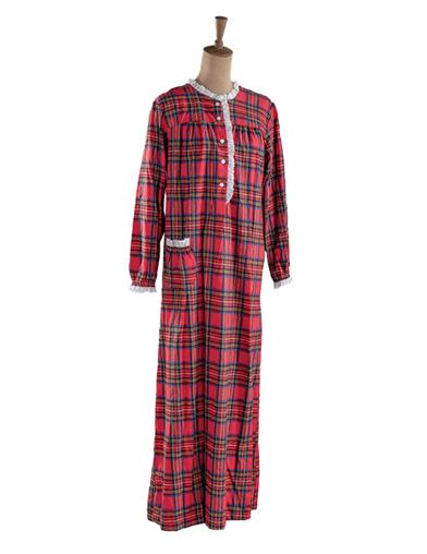 Victorian Nightgowns, Nightdress, Pajamas, Robes Aspen Flannel Nightie Small $39.95 AT vintagedancer.com
