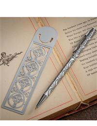 Irish Celtic Cross Pen & Bookmark Set