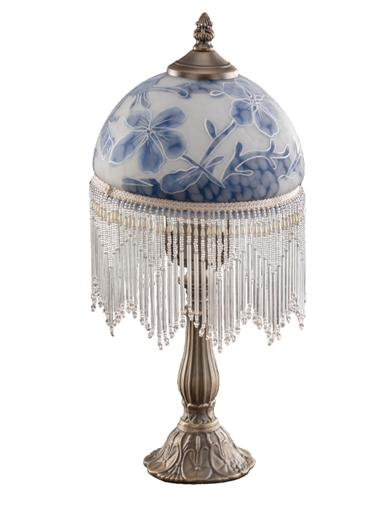 Blue Jacobean Lamp