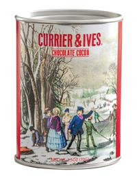 Currier & Ives Printed Cocoa Tins (Set Of 3)