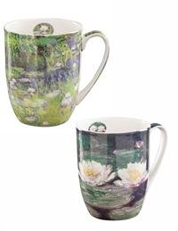 Water Lilies By Monet Mugs (Set Of 2)