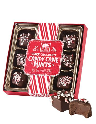 Dark Chocolate Candy Cane Mints