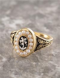 Forget-me-not Mourning Ring