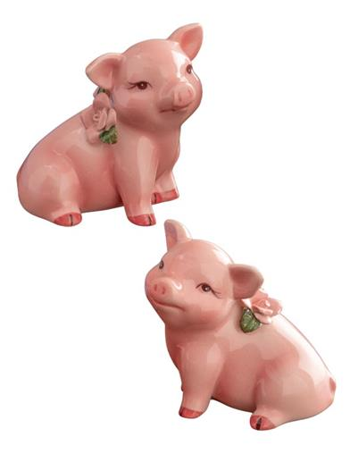 Posy & Petunia Pig Salt And Pepper Shakers