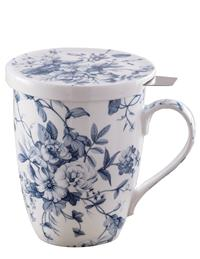 Blues In Bloom Mug With Infuser