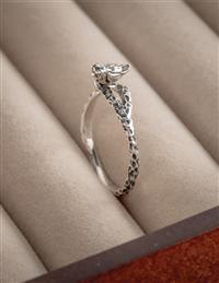 Perched Silver Sparrow Ring