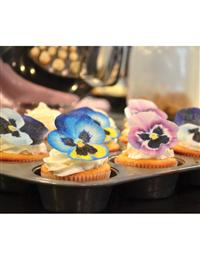 Edible Pansy Dessert Toppers (Set Of 12)