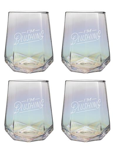 I'm Blushing Stemless Wine Glass (Set Of 4)
