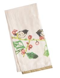 Watercolor Birds And Botanicals Tea Towels (Pair)