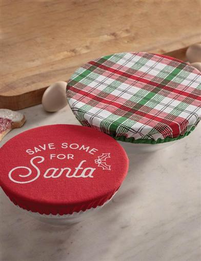 Save Some For Santa - Plaid Bowl Covers