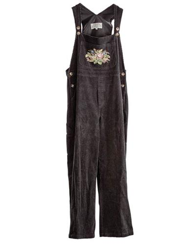 Vintage Overalls & Jumpsuits NadiaS Needlepoint Tapestry Corduroy Overalls Ext $129.95 AT vintagedancer.com