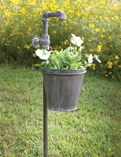 Weathered Faucet Garden Stake