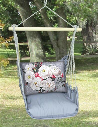 Nantucket Swing & White Rose Pillow