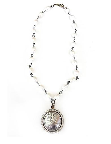 Twigs Jewels Liberty Coin Necklace