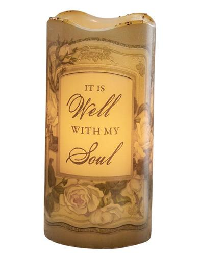 It Is Well With My Soul Led Candle