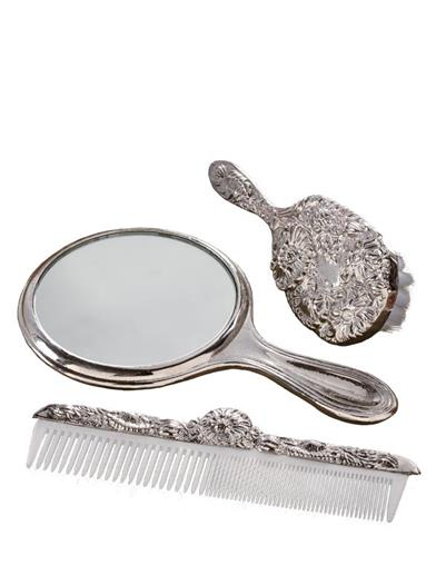 Edwardian Gloves, Handbags, Hair Combs, Wigs Brush Comb And Mirror Gift Set $49.95 AT vintagedancer.com
