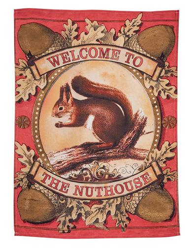 Welcome To The Nuthouse Tea Towel