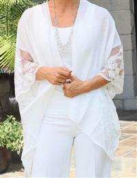 Linen & Lace Wrap White