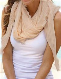 Ecru Scalloped Shrug Scarf