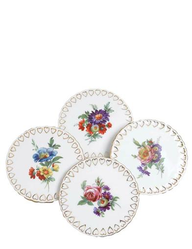 Painted Bouquet Coasters (Set Of 4)