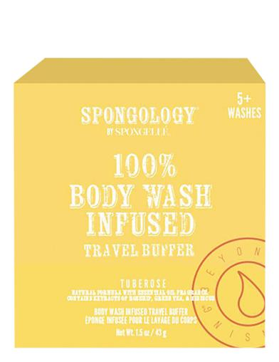 Tuberose Body Wash Soap Infused Travel Buffer