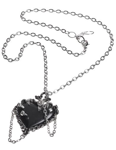 Gothic Heart Pendant Necklace