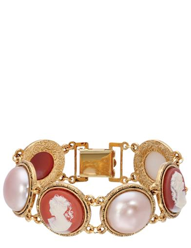 Clio Cameo And Pearl Bracelet