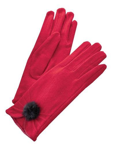 Vintage Style Gloves- Long, Wrist, Evening, Day, Leather, Lace Ruby Red Gloves $19.95 AT vintagedancer.com