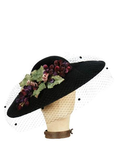 Tea Party Hats – Victorian to 1950s Veiled Velour Fascinator Hat $189.95 AT vintagedancer.com