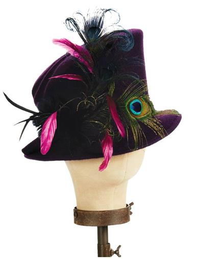 Tea Party Hats – Victorian to 1950s Flannery Top Hat $159.95 AT vintagedancer.com