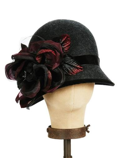 Tea Party Hats – Victorian to 1950s Charlotte Wool Cloche $139.95 AT vintagedancer.com