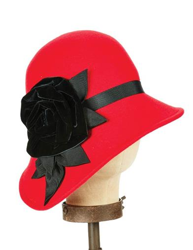 1920s Hat Styles for Women- History Beyond the Cloche Hat Josephine Wool Cloche $139.95 AT vintagedancer.com