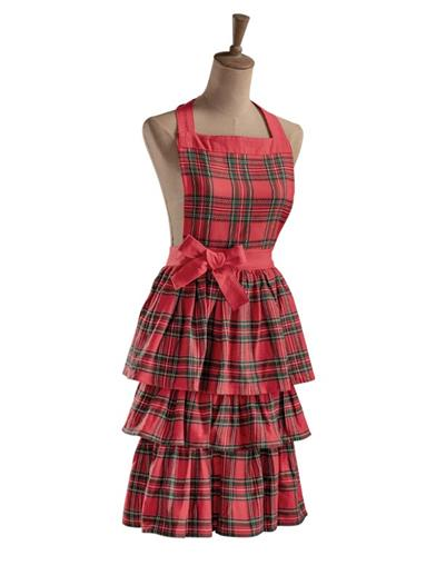 10 Things to Do with Vintage Aprons North Pole Plaid Apron $29.95 AT vintagedancer.com