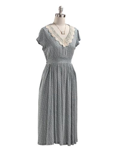 Cottagecore Clothing, Soft Aesthetic April Cornell Grace Tea Dress Extra Extra Large $120.00 AT vintagedancer.com