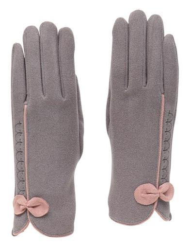 Vintage Gloves History- 1900, 1910, 1920, 1930 1940, 1950, 1960 Gracie Gray Gloves With Pink Bow by Victorian Trading Co $24.95 AT vintagedancer.com