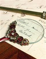 BURGUNDY PEWTER MAGNIFYING GLASS