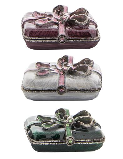 Enameled Trinket Boxes (Set Of 3)