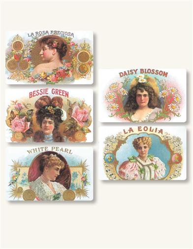 ANTIQUE CIGAR LABEL STICKERS