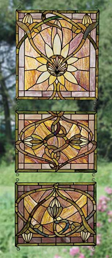 ARTS & CRAFTS LEADED GLASS PANELS