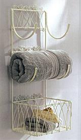 WALL TOWEL HOLDER & BASKET