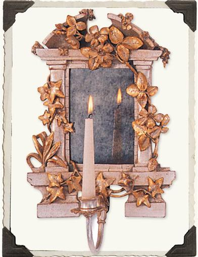 MYSTERIOUS GARDEN MIRROR SCONCE (CANDLELIGHT)