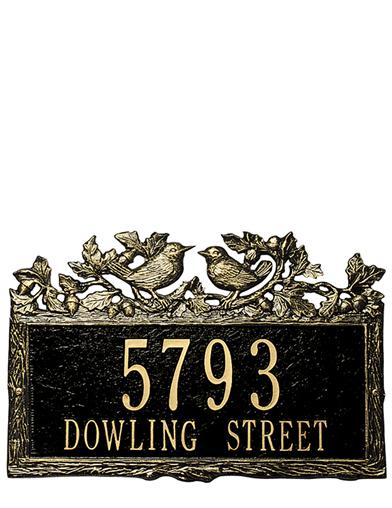 Woodland Wren Address Plaque
