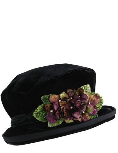 Edwardian Style Hats, Titanic Hats, Derby Hats Devon Violets Hat $49.95 AT vintagedancer.com