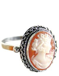 Cameo Ring (Sterling Silver)